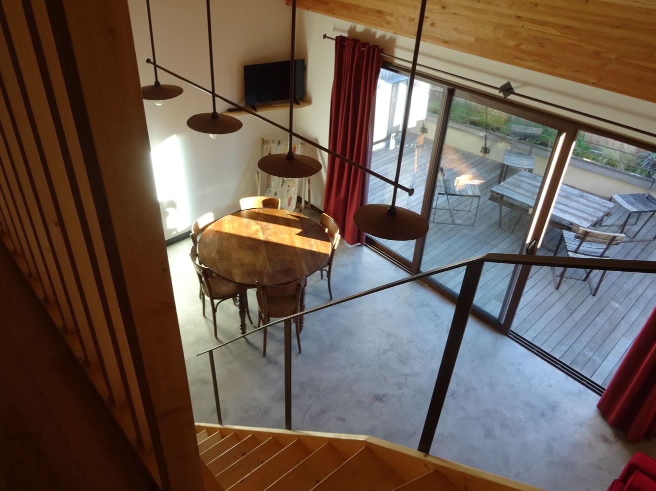Gîte à Banyuls - Vue du haut de la mezzanine